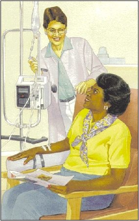 Image of woman undergoing procedure